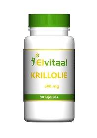 Krillolie Omega 3 Elvitaal, 500 mg