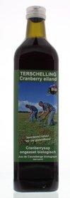 Cranberry ongezoet sap Skylge Terschellinger Bio 750 ml