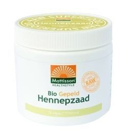 Hennepzaad gepeld Mattisson raw superfood, 250 gram