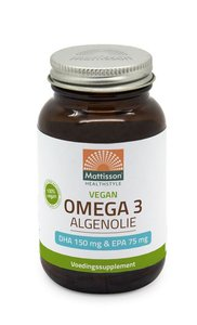 Vegan omega 3 algenolie DHA 150mg EPA 75mg